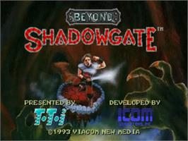Title screen of Beyond Shadowgate on the NEC TurboGrafx CD.