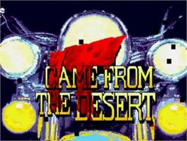 Title screen of It Came from the Desert on the NEC TurboGrafx CD.
