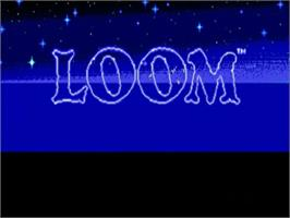 Title screen of Loom on the NEC TurboGrafx CD.