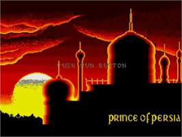 Title screen of Prince of Persia on the NEC TurboGrafx CD.