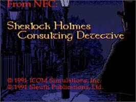 Title screen of Sherlock Holmes Consulting Detective: Volume 2 on the NEC TurboGrafx CD.