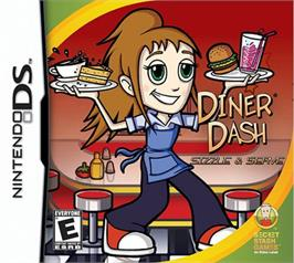 Box cover for Diner Dash: Sizzle & Serve on the Nintendo DS.