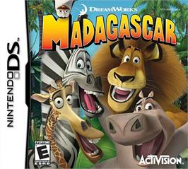 Box cover for Madagascar on the Nintendo DS.
