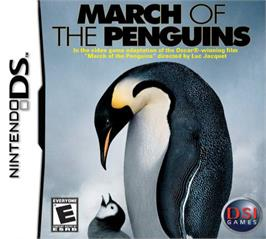 Box cover for March of the Penguins on the Nintendo DS.