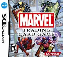 Box cover for Marvel Trading Card Game on the Nintendo DS.