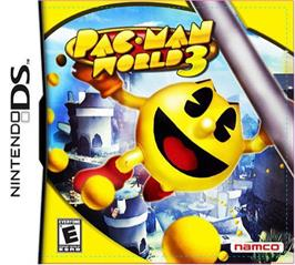 Box cover for Pac-Man World 3 on the Nintendo DS.