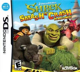 Box cover for Shrek Smash N' Crash Racing on the Nintendo DS.