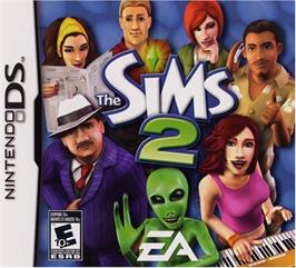 Box cover for Sims 2 on the Nintendo DS.