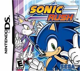 Box cover for Sonic Rush on the Nintendo DS.
