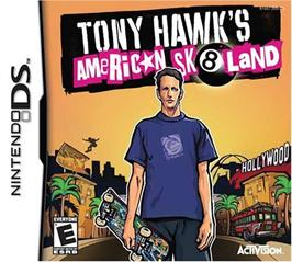 Box cover for Tony Hawk's American Sk8land on the Nintendo DS.
