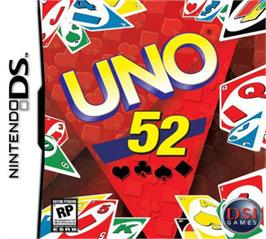 Box cover for Uno 52 on the Nintendo DS.