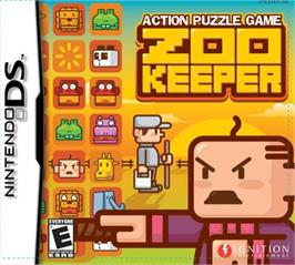 Box cover for Zoo Keeper on the Nintendo DS.