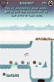 In game image of Arctic Tale on the Nintendo DS.