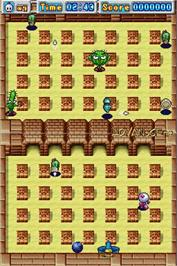 In game image of Bomberman on the Nintendo DS.