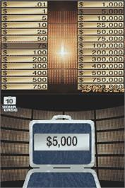 In game image of Deal or No Deal on the Nintendo DS.