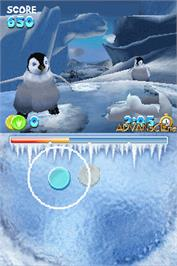 In game image of Happy Feet on the Nintendo DS.