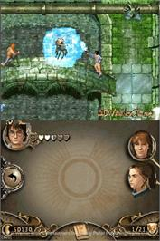 In game image of Harry Potter and the Goblet of Fire on the Nintendo DS.