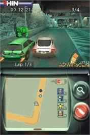 In game image of Juiced 2: Hot Import Nights on the Nintendo DS.