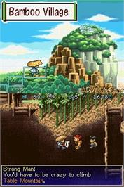 In game image of Mystery Dungeon: Shiren the Wanderer on the Nintendo DS.