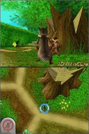 In game image of Over the Hedge on the Nintendo DS.