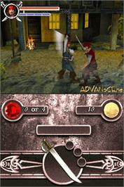 In game image of Pirates of the Caribbean: Dead Man's Chest on the Nintendo DS.