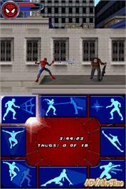 In game image of Spider-Man 2 on the Nintendo DS.