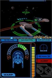 In game image of Star Trek Tactical Assault on the Nintendo DS.
