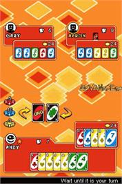 In game image of Uno 52 on the Nintendo DS.