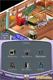 In game image of Urbz: Sims in the City on the Nintendo DS.