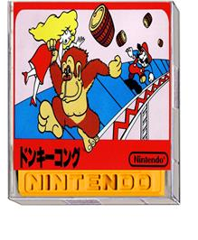 Box cover for Donkey Kong on the Nintendo Famicom Disk System.