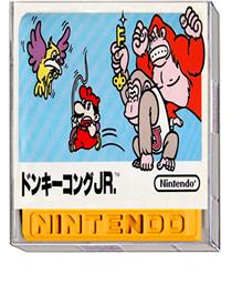 Box cover for Donkey Kong Jr. on the Nintendo Famicom Disk System.