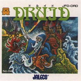 Box cover for Druid - Kyoufu no Tobira on the Nintendo Famicom Disk System.