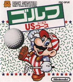 Box cover for Family Computer Golf U.S. Course on the Nintendo Famicom Disk System.