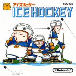 Box cover for Ice Hockey on the Nintendo Famicom Disk System.