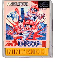 Box cover for Super Lode Runner II on the Nintendo Famicom Disk System.