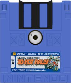 Artwork on the Disc for Famicom Grand Prix II - 3D Hot Rally on the Nintendo Famicom Disk System.