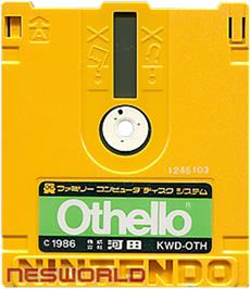 Artwork on the Disc for Family Computer Othello on the Nintendo Famicom Disk System.