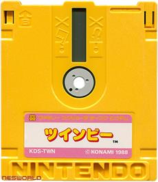 Artwork on the Disc for TwinBee on the Nintendo Famicom Disk System.