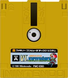 Artwork on the Disc for Vs. Excitebike on the Nintendo Famicom Disk System.