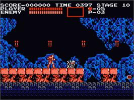 In game image of Akumajou Dracula on the Nintendo Famicom Disk System.