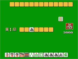 In game image of Bishoujo Mahjong Club on the Nintendo Famicom Disk System.