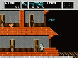 In game image of Dr. Chaos - Jigoku no Tobira on the Nintendo Famicom Disk System.