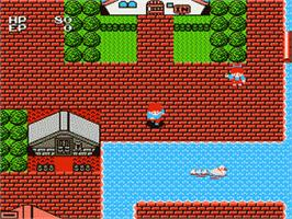 In game image of Esper Dream on the Nintendo Famicom Disk System.
