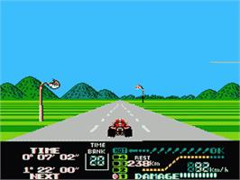 In game image of Famicom Grand Prix II - 3D Hot Rally on the Nintendo Famicom Disk System.