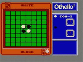 In game image of Family Computer Othello on the Nintendo Famicom Disk System.