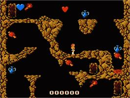 In game image of Fire Rock on the Nintendo Famicom Disk System.