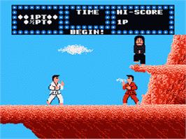 In game image of Karate Champ on the Nintendo Famicom Disk System.