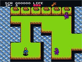 In game image of Meikyuu Jiin Dababa on the Nintendo Famicom Disk System.