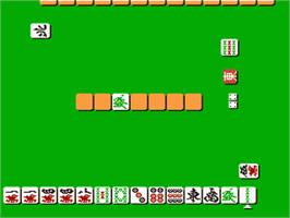 In game image of Professional Mahjong Gokuu on the Nintendo Famicom Disk System.