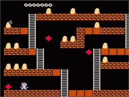 In game image of Super Lode Runner II on the Nintendo Famicom Disk System.